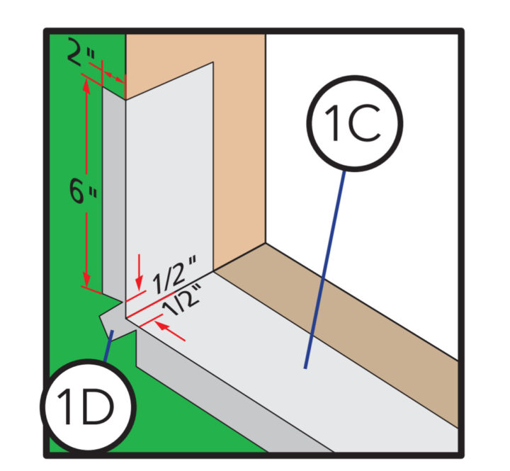 Corner Flashing Detail with Water Resistive Barrier