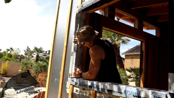 Installing the Flashing on the Side of the Jamb