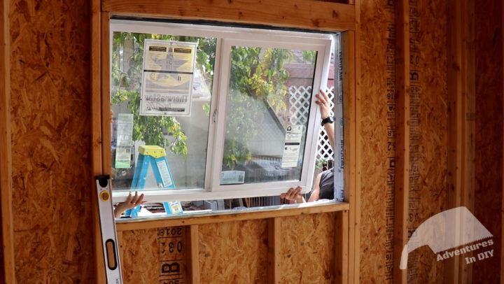 Placing the Window on Top of the Shims