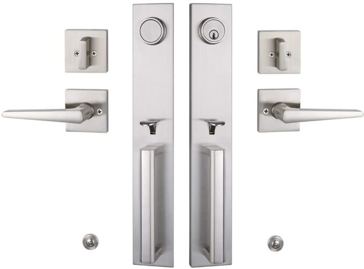 Double Door Handlset Keyed Entry Handle and Dummy Handlset