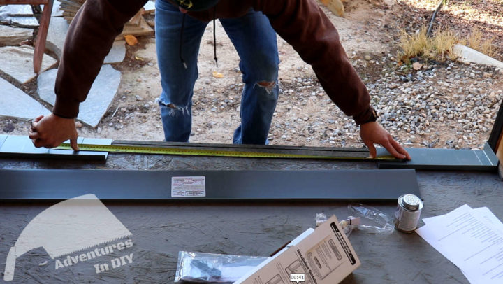 Measuring the Distance to Cut the Center Sill Pan Piece