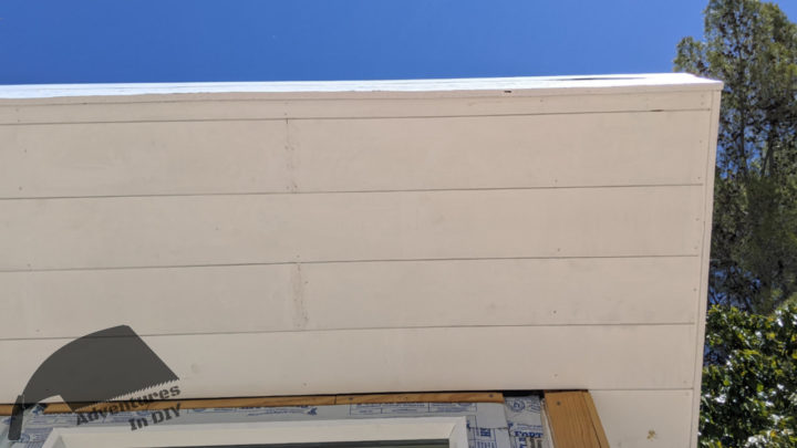 Showing 1 half inch strip in the front soffit area