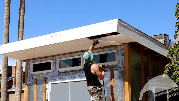 Installing the Final Full Course on the Front Soffit